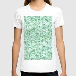 Muddled Puddles Pale Aqua Ocean Patchwork T-shirt
