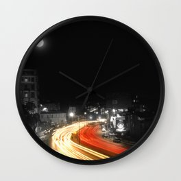 City and the moon Wall Clock