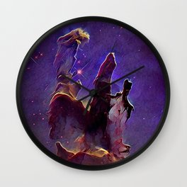 ALTERED Pillars of Creation Wall Clock