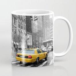 New York City 5th Avenue Yellow Cabs Coffee Mug
