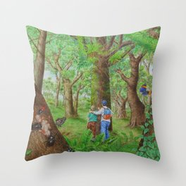 A Day of Forest (3). (Observe the tree) Throw Pillow