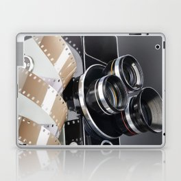 Retro mechanical movie camera and reel film Laptop & iPad Skin