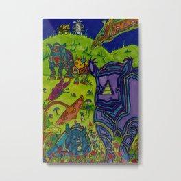 Shrooms and Rhinos Metal Print