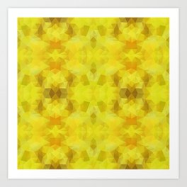 Triangles design in yelow colors Art Print