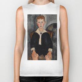 "Amedeo Modigliani ""Boy in Sailor Suit"" Biker Tank"