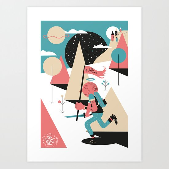 Run boy ! Art Print