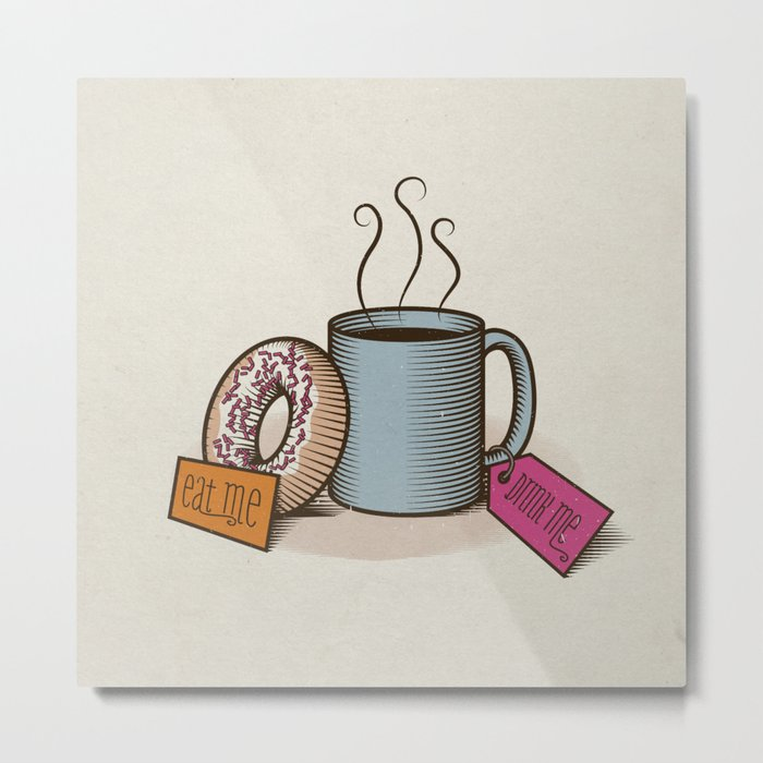 Breakfast in Wonderland Metal Print