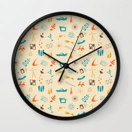 Mid Century Madness - Atomic Age Space Age Retro Pattern Wall Clock