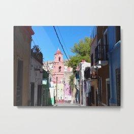 Mexican narrow street Metal Print