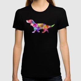 Rainbow Watercolor Miniature Daxon (Color) T-shirt