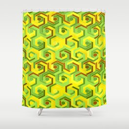Back in the 60s neon green Shower Curtain