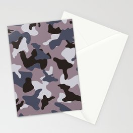 Gray army camo camouflage pattern Stationery Cards