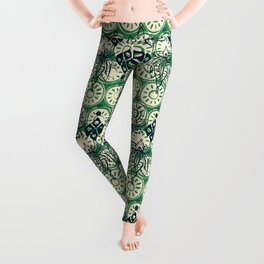 lotus diamond green Leggings