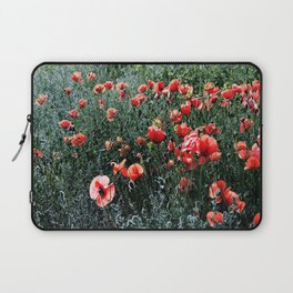 Poppies In A Field Laptop Sleeve
