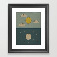 Good Day, Good Night Framed Art Print