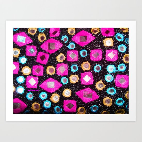 Pink beaded jewels for the fashionista's! Art Print