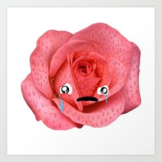 Sad rose. Art Print