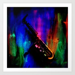 Midnight Sax Art Print
