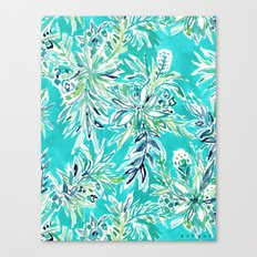 KAILUA CHILL Tropical Hawaiian Floral Canvas Print