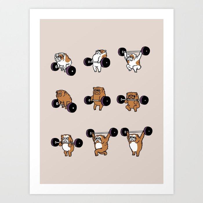 OLYMPIC LIFTING English Bulldog Kunstdrucke