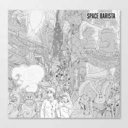 Space Barista Night Market Canvas Print