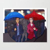 ace attorney Canvas Prints featuring ace attorney by cclaire