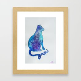 Universe Cat Framed Art Print