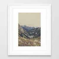 calm Framed Art Prints featuring Mountain Flowers by Kurt Rahn