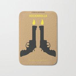 No071 My Rocknrolla minimal movie poster Bath Mat