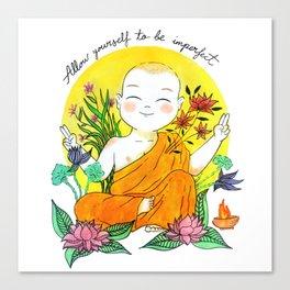 The Buddhist Monk Canvas Print