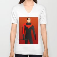 nightwing V-neck T-shirts featuring Nightwing by pablosiano