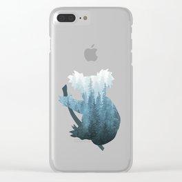 Misty Forest Koala Bear - Blue Clear iPhone Case