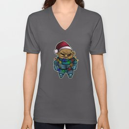 Happy Wholidays featuring Strax Unisex V-Neck