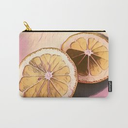 Lemon Study on Pink Carry-All Pouch