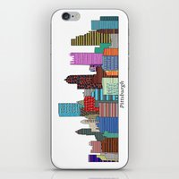 pittsburgh iPhone & iPod Skins featuring Pittsburgh by bri.buckley
