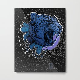 Round 2 Snow Leopard  Metal Print