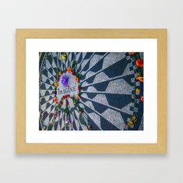 Imagine in Strawberry Fields Framed Art Print