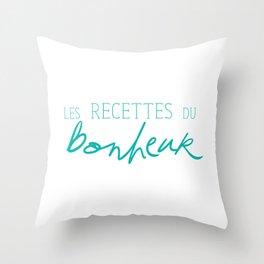 Les Recettes du bonheur  - LOVE Throw Pillow