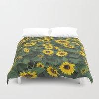 sunflower Duvet Covers featuring Sunflower by adriaaannn