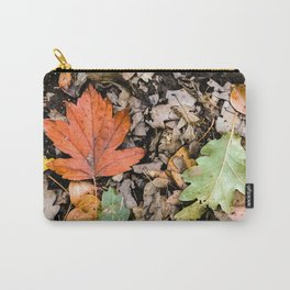 Autumnal leaves on the ground Carry-All Pouch