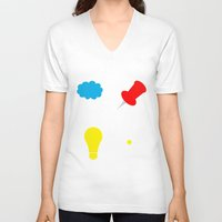 paper towns V-neck T-shirts featuring John Green Books - Fault In Our Stars, Abundance Katherines, Paper Towns, Alaska by denise