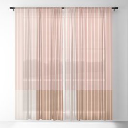 Color Block Line Abstract XVI Sheer Curtain