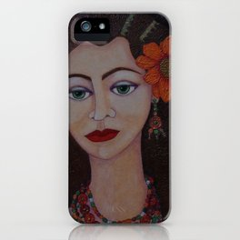 Gypsy with green eyes iPhone Case