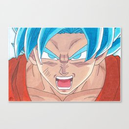 Goku SSB Canvas Print