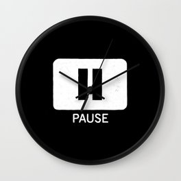 Pause Button Wall Clock