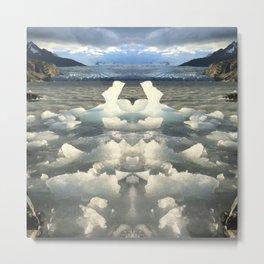 Glacier Grey Metal Print