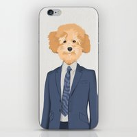 poodle iPhone & iPod Skins featuring Posing Poodle by Studio Drawgood