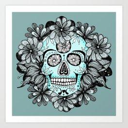 Blue Sugar Art Print