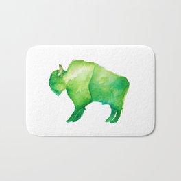 Green Bison Bath Mat
