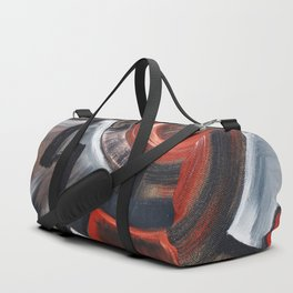 Russian Revoution РЕВОЛЮЦИЯ industrial abstract geometric composition painting by Ksavera Duffle Bag